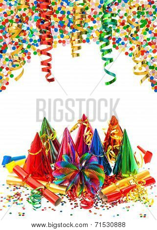Assorted Confetti With Shiny Colorful Streamer