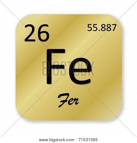 Iron element, french fer