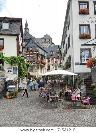 Marketplace Square In Beilstein Village, Germany