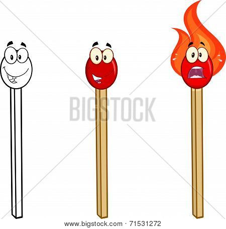 Match Stick Cartoon Characters 3. Collection Set