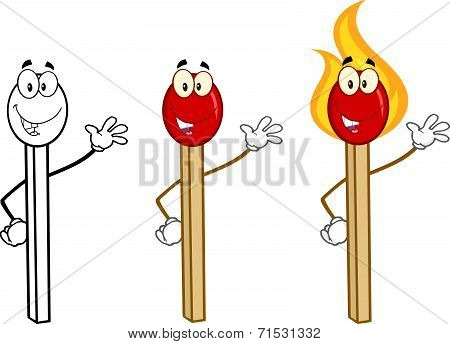 Match Stick Cartoon Characters 5. Collection Set