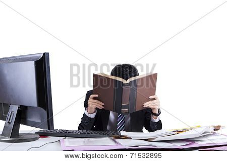 Exhausted Businessman In Office 1