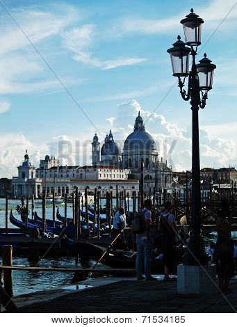Venice: sunset at the Madonna della Salute Church