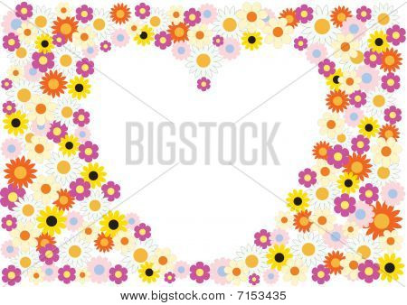 Flowers Herat Background