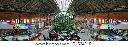 Interior Of Atocha Railway Station In Madrid