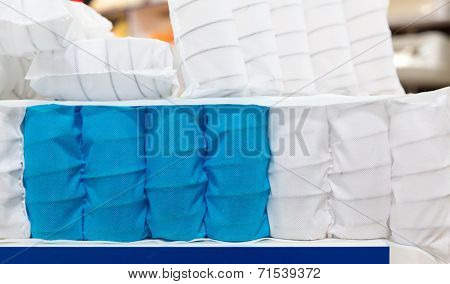 Mattress spring seal with colorful fabric