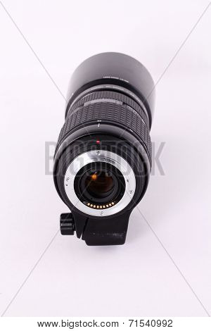 Zoom Lens Detached From Camera Rear View