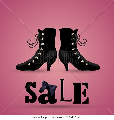 Shoe sale, eps10 vector