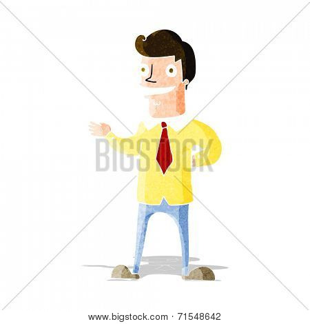 cartoon salesman
