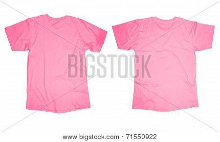 Pink T-Shirt Template