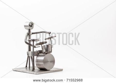 Stainless Steel Drummer