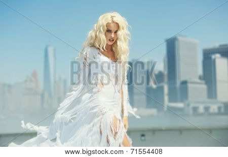 Blond haired woman