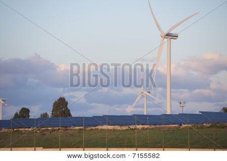 solar and wind energy