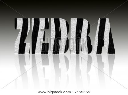 Zebra Word Pattern