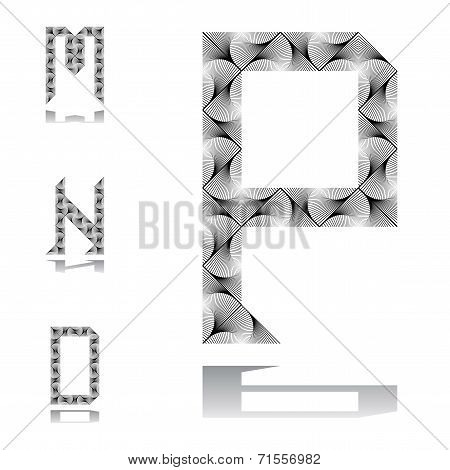 Design Abc Letters From M To P