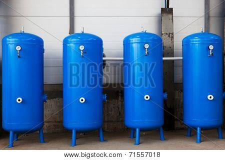 gas tanks in a modern plant