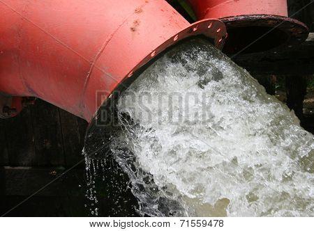 Lot Of Water Pipe Drain