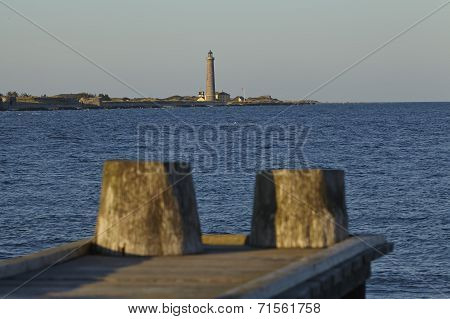 Skagen (denmark) - Lighthouse Grey Tower In The Evening