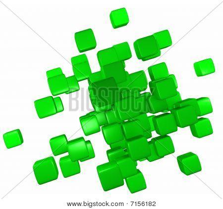 Abstract Green Blocks