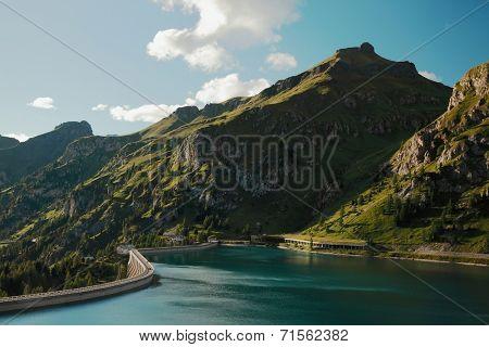 Lago do Fedaia, Dolomites, Italy