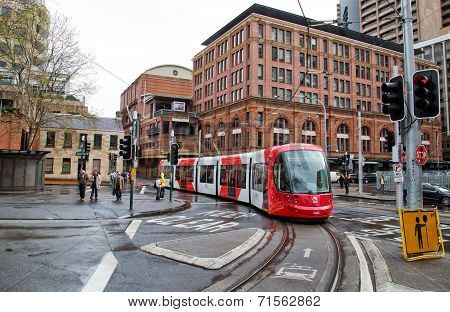 Tram on Sydney light rail network