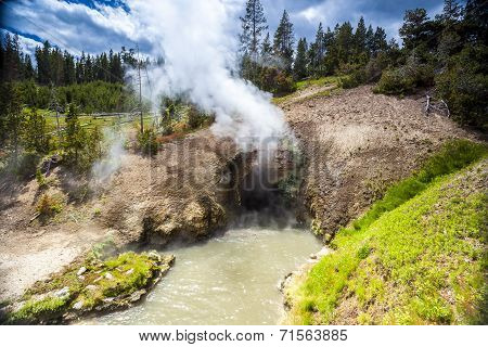 Dragon's Mouth, Mud Volcano Pool