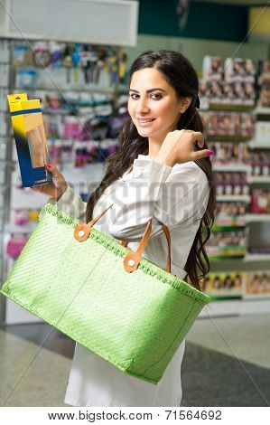 Female pharmacist in drugstore