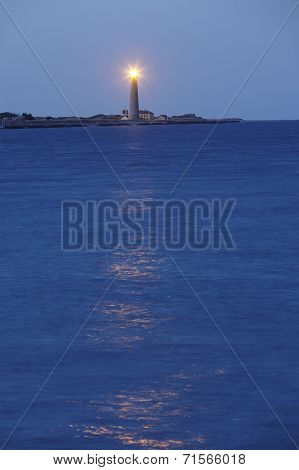 Skagen (denmark) - Lighthouse (grey Tower) Flashes