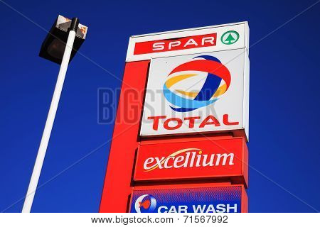 Total petrol station sign