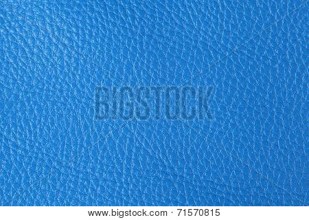 Background With Texture Of Blue Leather