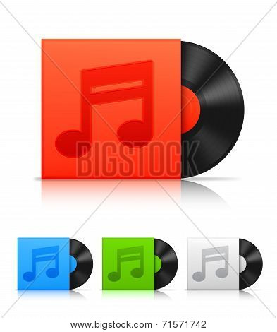 Vinyl records.