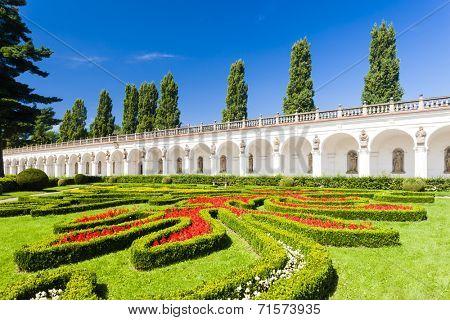 Flower garden of Kromeriz Palace, Czech Republic
