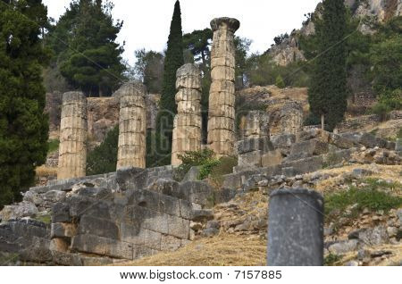 Ancient temple of Apollo at Delphi, Greece