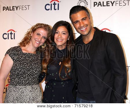 LOS ANGELES - SEP 6:  Jennie Snyder, Gina Rodriguez, Jaime Camil at the Paley Center For Media's PaleyFest 2014 Fall TV Previews - The CW  at Paley Center on September 6, 2014 in Beverly Hills, CA