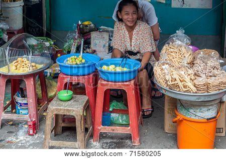 Tropical fruit vendor