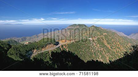 La Gomera - Panoramic view over the Montana Blanca