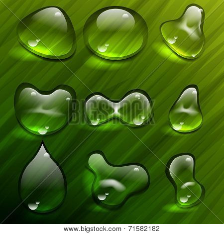 Waterdrop vector teplate