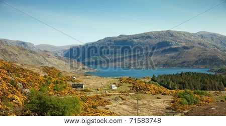 Sparsely populated area in the north of Scottish Highlands. UK.
