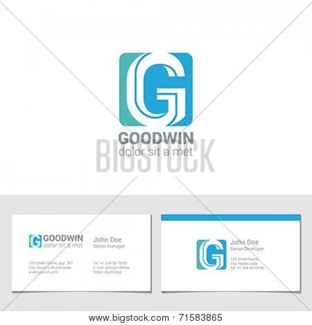 Corporate Logo G Letter company vector design template. Logotype with identity business visit card.
