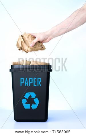 Container For Recycling - Paper.