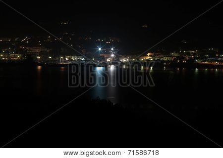Sardinia at night