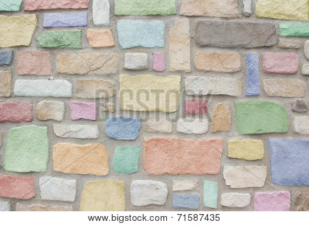 Natural Sand Stone Wall In Pastel Colors