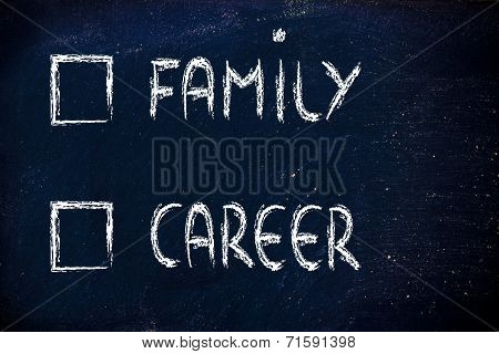 Lifestyle Choices: Multiple Choice Test, Family Or Career