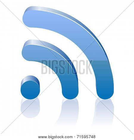 Wifi icon for radio waves. illustration.