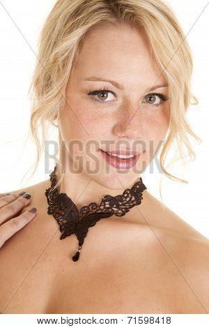 Woman Lace Choker Butterfly