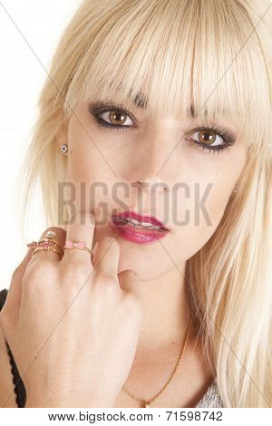 Woman Rings On Fingers Sensual