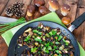 foto of chinese parsley  - Roasted mushrooms with cumin and fresh herbs  - JPG