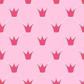 foto of princess crown  - Princess Crown Seamless Pattern Background Vector Illustration - JPG