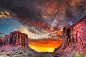 pic of sagebrush  - Colorful spring sunset near Jug Handle Arch Utah - JPG