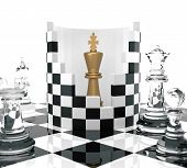 stock photo of three kings  - Chess King to Protect - JPG